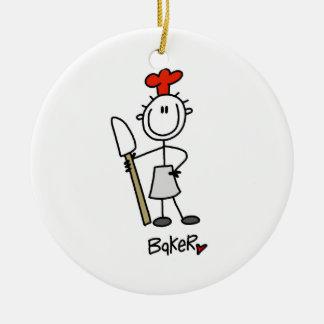 Baker With Scraper Ornaments