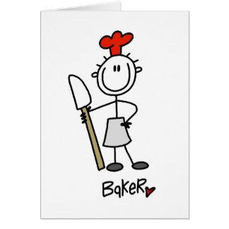 Baker with Scraper Greeting Card