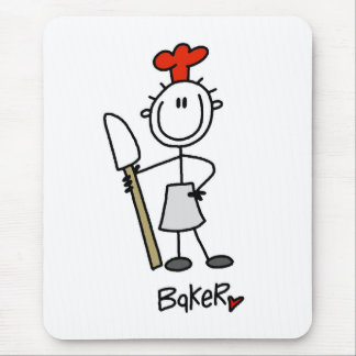 Baker with Scraper Mouse Mat