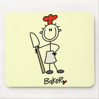 Baker with Scraper Tshirts and Gifts Mouse Pads