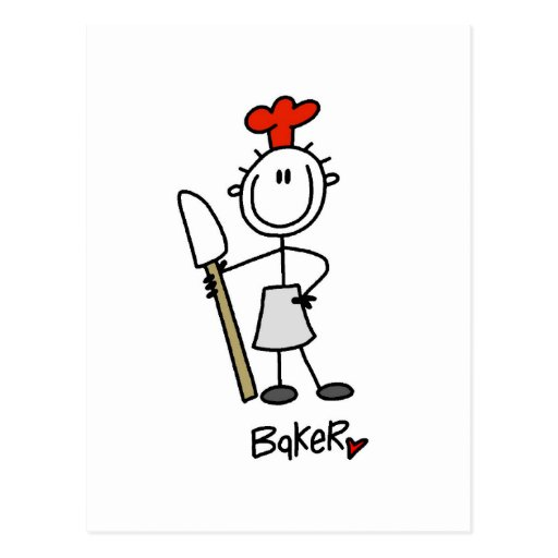 Baker with Scraper Tshirts and Gifts Post Card