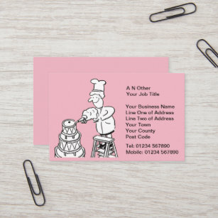 Cake making business cards business card printing zazzle uk bakers baking cake making business card reheart Image collections