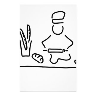 bakers bread bake personalized stationery