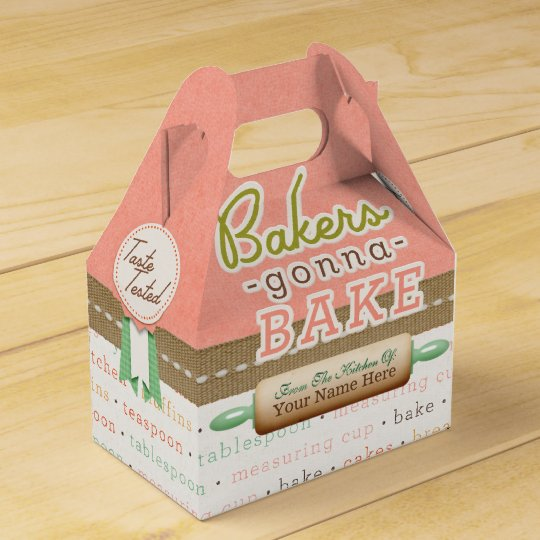 Bakers Gonna Bake Personalised Favour Boxes