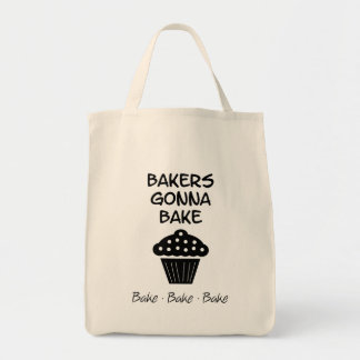 Bakers Gonna Bake with Cupcake Tote Bag