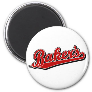 Baker's in Red 6 Cm Round Magnet