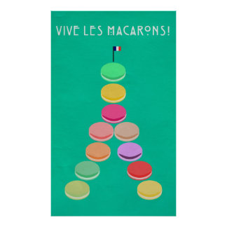 Baker's Joy Collection: Macaron Eiffel Tower Poster