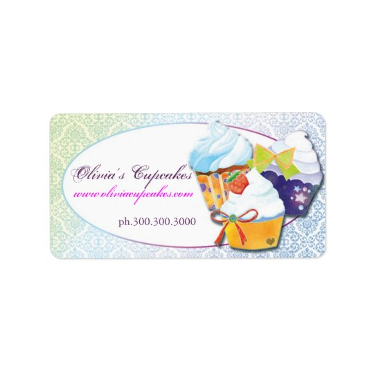 Bakers & Pastry Chefs Cupcake Business Label