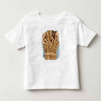 Baker's sign with ears of wheat and flowers toddler T-Shirt