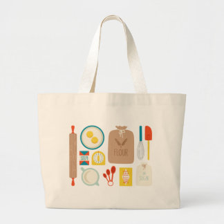 Baker's Supplies Large Tote Bag