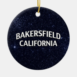 Bakersfield California Christmas Ornament