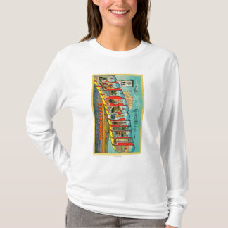 Bakersfield, California - Large Letter Scenes T-Shirt
