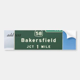 Bakersfield Exit Bumper Sticker