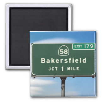 Bakersfield Exit Square Magnet