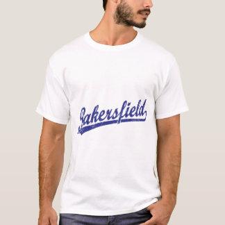 Bakersfield script logo in blue T-Shirt