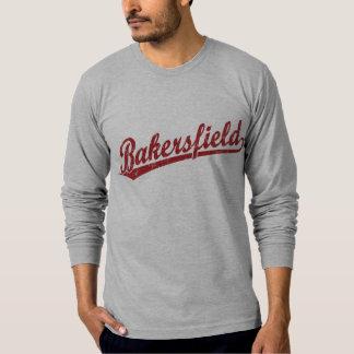Bakersfield script logo in red T-Shirt