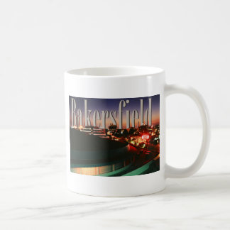 Bakersfield Skyline with Bakersfield in the Sky Basic White Mug
