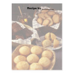 Bakery and Breads Recipe 2 Blank Card Postcard