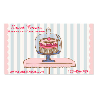 Bakery and cake design, Sweet Treats Business Card Templates