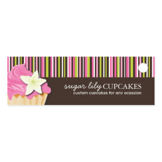 Bakery and Cupcake Packaging Tags Business Card Template