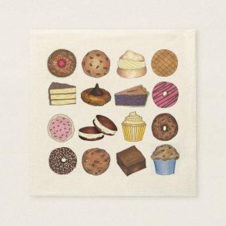 Bakery Bake Sale Cupcake Pie Cookie Brownie Donut Paper Napkin