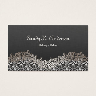 Bakery / Baker - Elegant Damask Lace Business Card