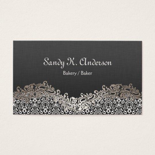 Bakery / Baker - Elegant Damask Lace Business