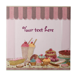 Bakery Boutique Cakes - Patisserie - Customize Tile