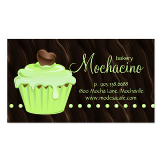 Bakery Business Card cute cupcake mint chocolate