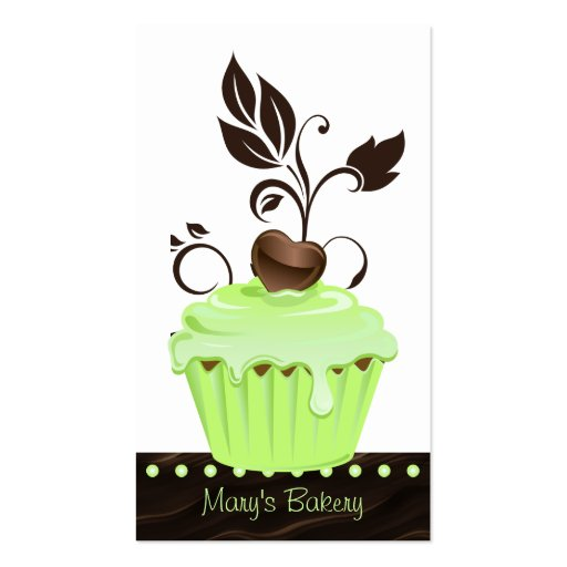 Bakery Business Card cute cupcake mint chocolate 2
