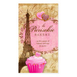 Bakery Business Card Paris Eiffel Tower Pink
