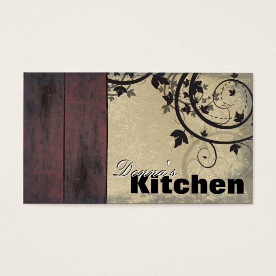 Bakery Business Card - Vintage Barn Board &