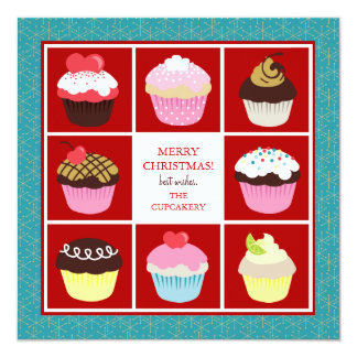 Bakery Business Christmas Cards 13 Cm X 13 Cm Square Invitation Card