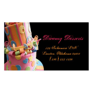 bakery cake business card fun yummy colorful cute