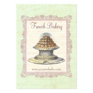 Bakery, Candy Shop, Elegant Vintage Pack Of Chubby Business Cards