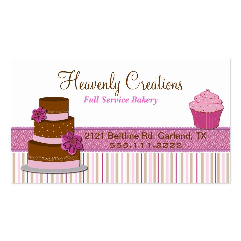 Cupcake business card bakery cupcake business card magicingreecefo Images