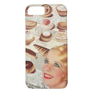 bakery cupcake pastry retro lady paris iPhone 8/7 case