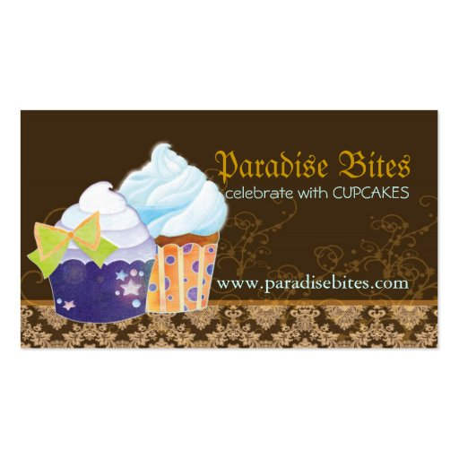 Bakery Cupcakes Chocolate Brown Business Cards