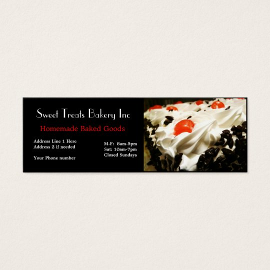 Bakery Dessert Company Business Card