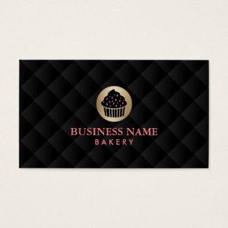 Bakery Gold Cupcake Logo Elegant Business Card