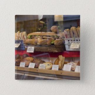 Bakery in Paris 15 Cm Square Badge