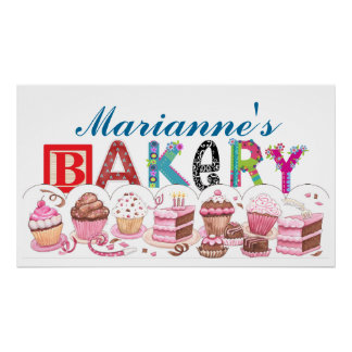 Bakery - Kitchen Poster Sign - SRF
