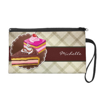 Bakery or cake boutique wristlet purse