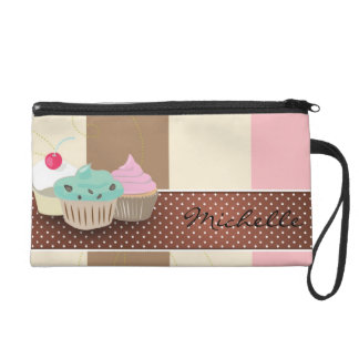 Bakery or cake boutique wristlet clutches