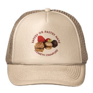 Bakery Or Pastry Sweets Cake Shop With Your Name Cap