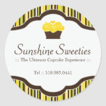 Bakery Packaging Labels Classic Round Sticker