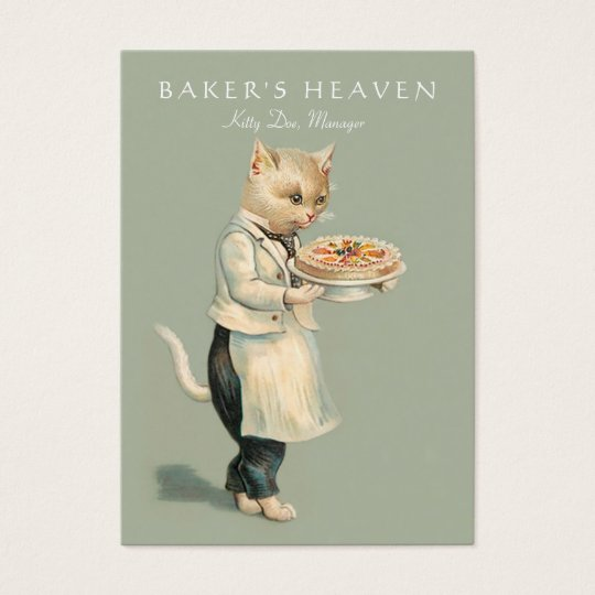 Bakery, Pastry Chef, Baker, Restaurant, Caterer Business Card