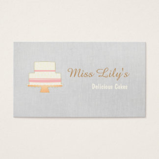 Bakery Pastry Chef Cake Logo Business Card