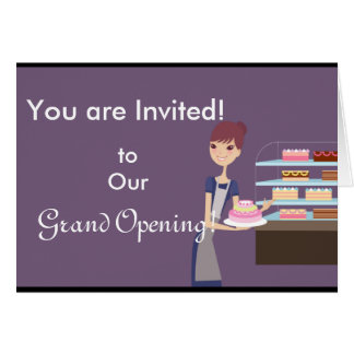 Bakery/Pastry Shop 4 Design Greeting Card
