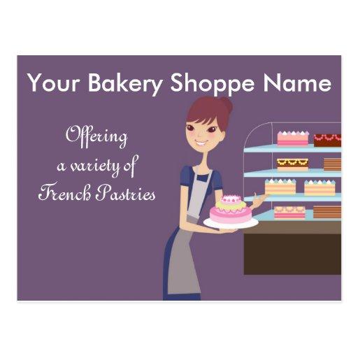 Bakery/Pastry Shop 4 Design Postcards